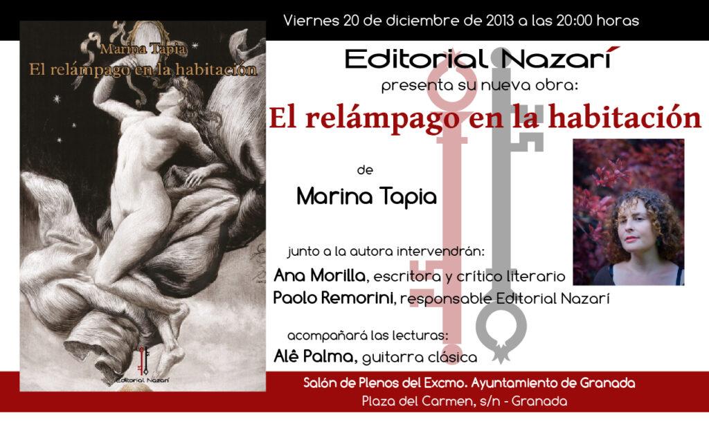 El relámpago en la habitación - Marina Tapia - Granada