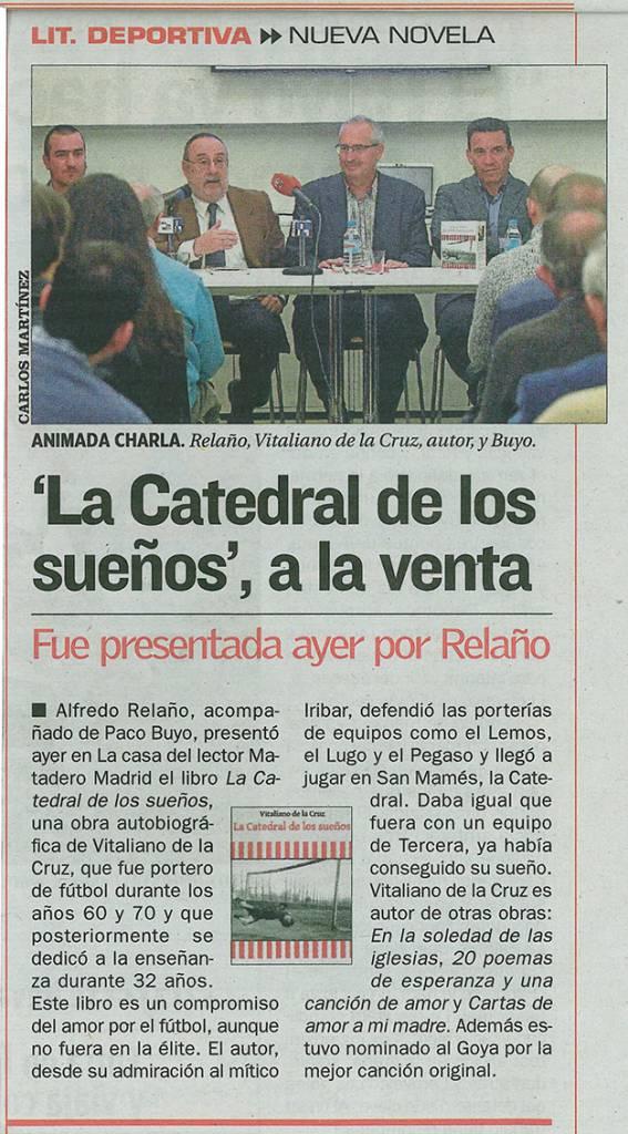 La Catedral de los sueños - Vitaliano de la Cruz - Diario AS