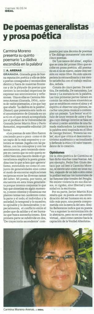 La dádiva escondida en la palabra - Carmina Moreno Arenas - Ideal
