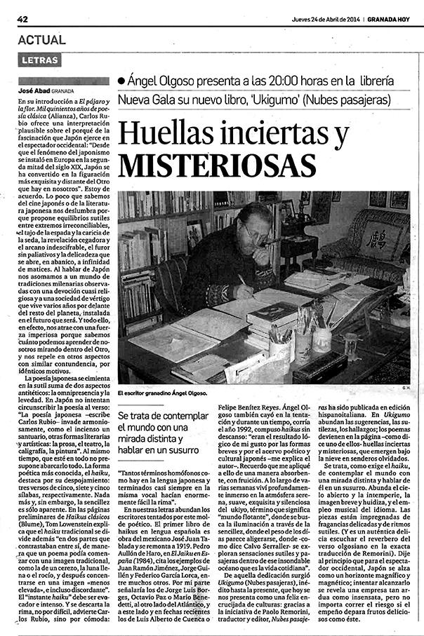Ukigumo - Ángel Olgoso - Granada Hoy