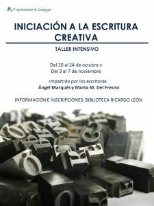 Taller escritura creativa - Ángel Marqués Valverde