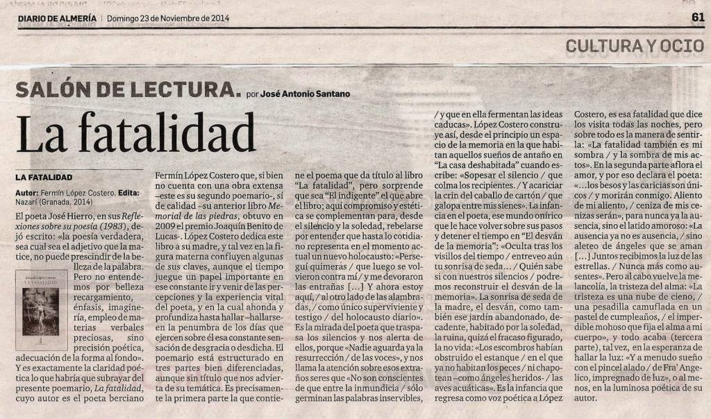 La fatalidad - Fermín López Costero - José Antonio Santano