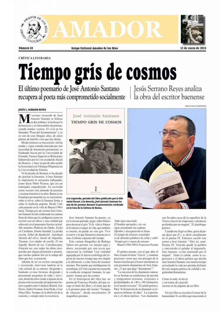 Tiempo gris de cosmos - José Antonio Santano - Amador de los Ríos 01