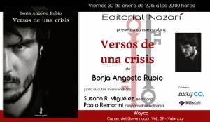 Versos de una crisis - Borja Angosto Rubio - Valencia