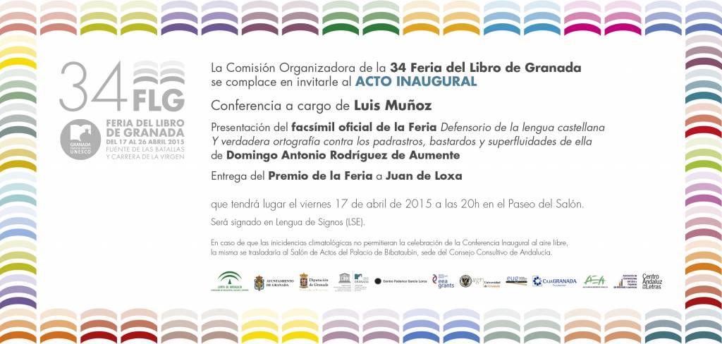 Feria del Libro de Granada 2015 - FLG15