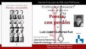 Poesía, con perdón - Luis López Quiñones - Casa del Lector