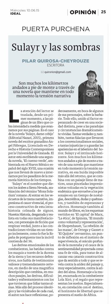 Sulayr, dame cobijo - Ángel Fábregas - Pilar Quirosa - Ideal