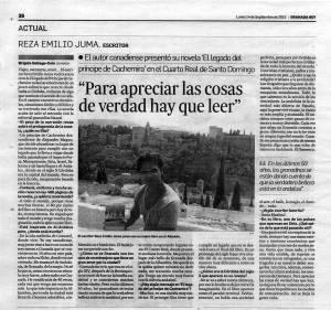 El legado del príncipe de Cachemira - Reza Emiliio Juma - Granada Hoy