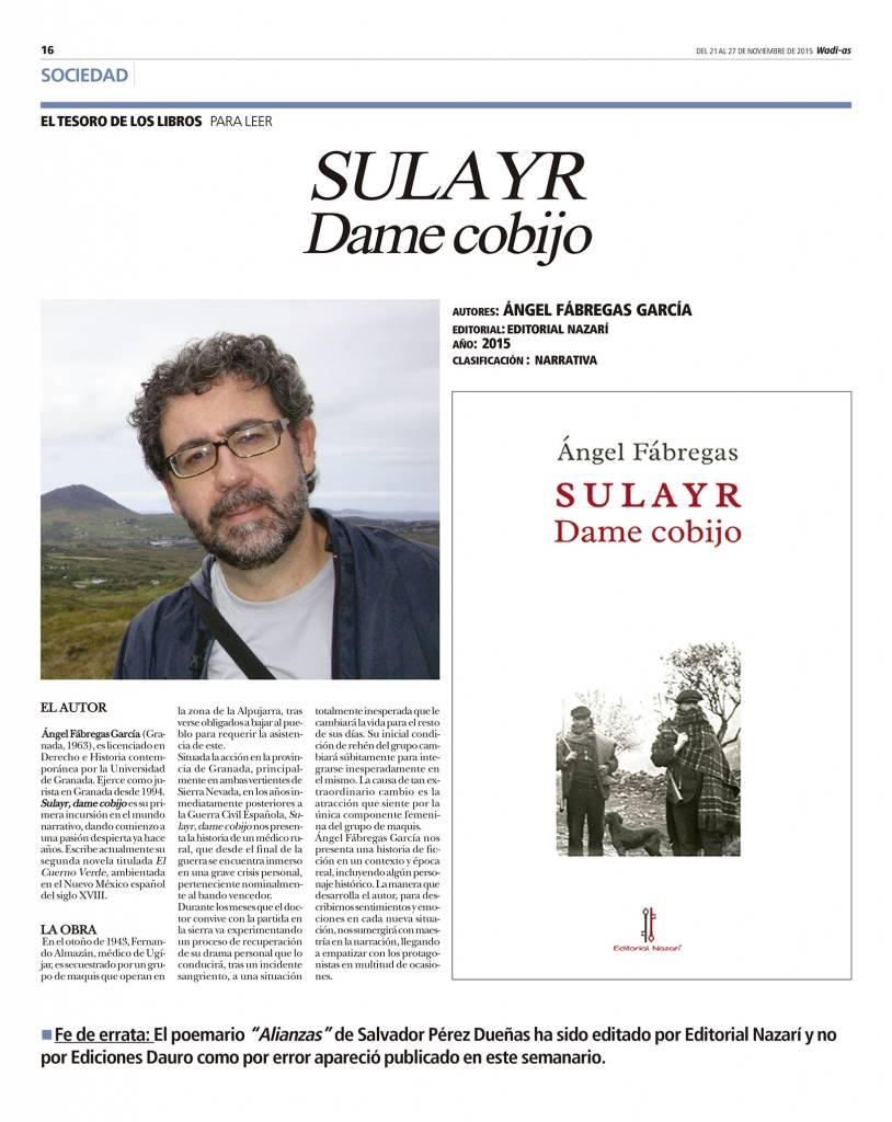 Sulayr, dame cobijo - Ángel Fábregas - Wadi-as