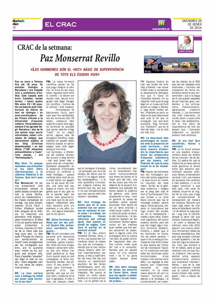Hormonautas - Paz Monserrat Revillo - Diari més ebre