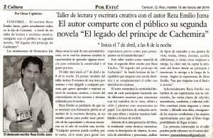 El legado del príncipe de Cachemira - Reza Emilio Juma - Por Esto!