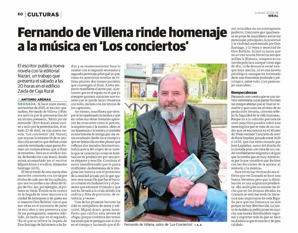 Los Conciertos - Fernando de Villena - Ideal