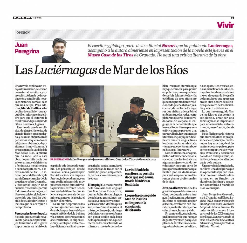 Luciérnagas - Mar de los Ríos - Juan Peregrina - La Voz de Almería