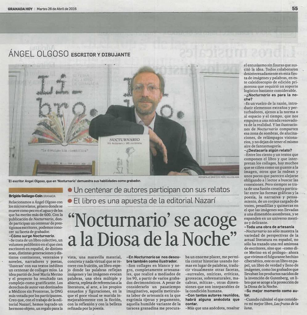 Nocturnario - Ángel Olgoso - Granada Hoy