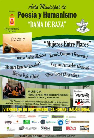 Marina Tapia en el Aula Municipal de Poesía y Humanismo Dama de Baza