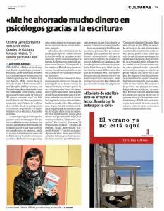 El verano ya no está aquí - Cristina Gálvez - Ideal