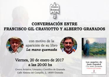 Conversación con Francisco Gil Craviotto sobre 'Los papeles de Juan Español: I La mano quemada'