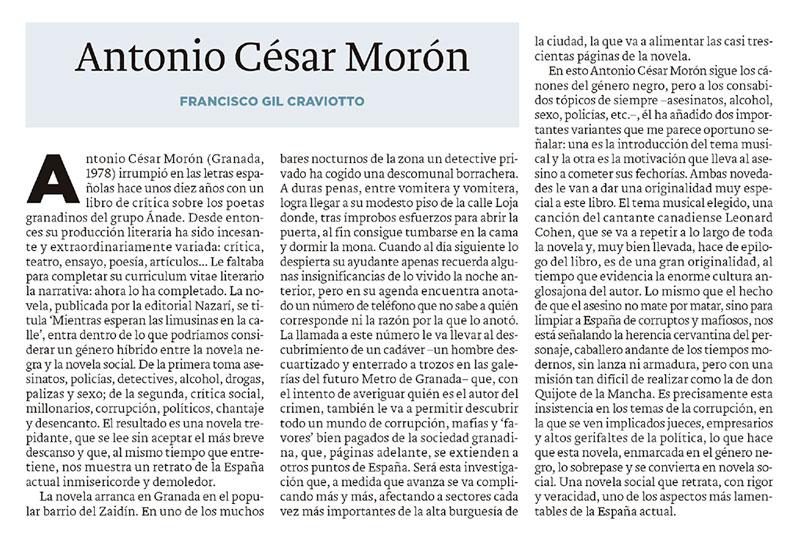 Mientras las limusinas esperan en la calle - Antonio César Morón - Francisco Gil Craviotto - Ideal