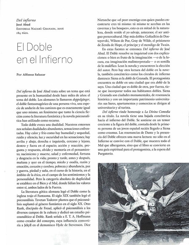 Del infierno - José Abad - Quimera