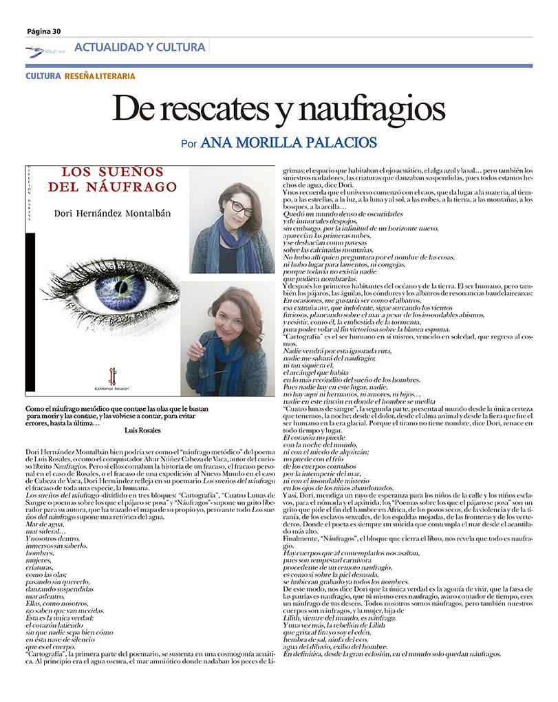Los sueños del náufrago - Dori Hernández Montalbán - Wadi-as