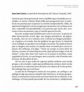 La piel de la intemperie - Juan José Castro - Alhucema