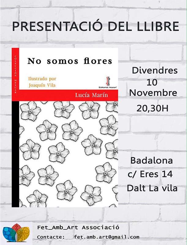 No somos flores - Lucía Marín - La casa de los cuentos - Badalona