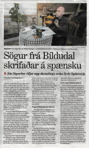El náufrago afortunado - Jón Sigurður Eyjólfsson - Morgunbladid