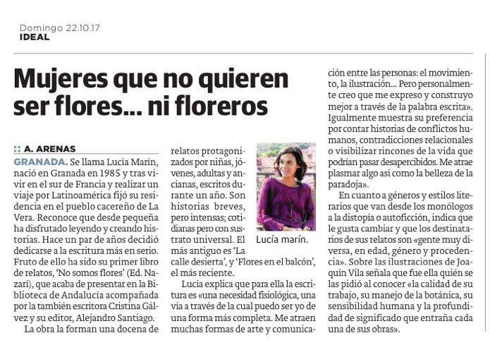 No somos flores - Lucía Marín - Ideal
