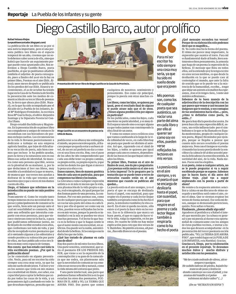 Yo, la tierra que ahora piso - Diego Castillo Barco - Andalucía información