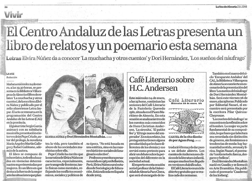 Los sueños del náufrago - Dori Hernández Montalbán - La voz de Almería