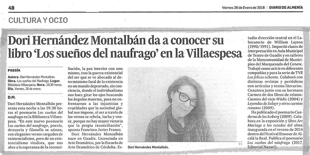 Los sueños del náufrago - Dori Hernández Montalbán - Diario de Almería