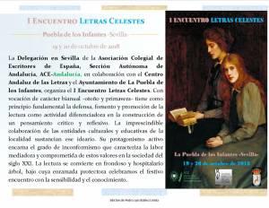 I Encuentro Letras Celestes - Diego Castillo - Puebla de los Infantes 01