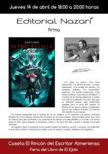 Última Batalla: El Señor de las Bestias - José Loma - Feria del Libro de El Ejido