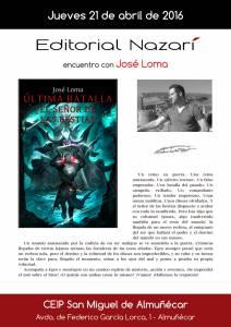 Última Batalla: El Señor de las Bestias - José Loma - Colegio San Miguel Almuñécar
