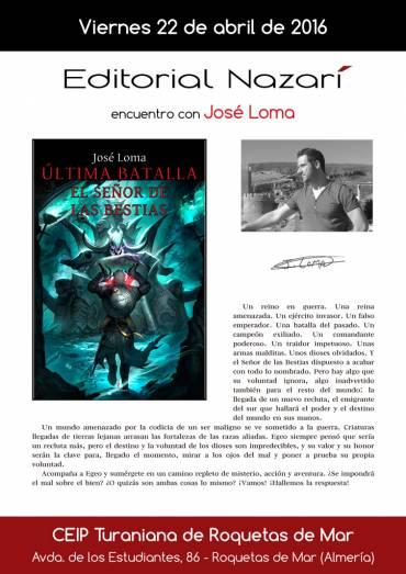Encuentro con José Loma en el IES Turaniana