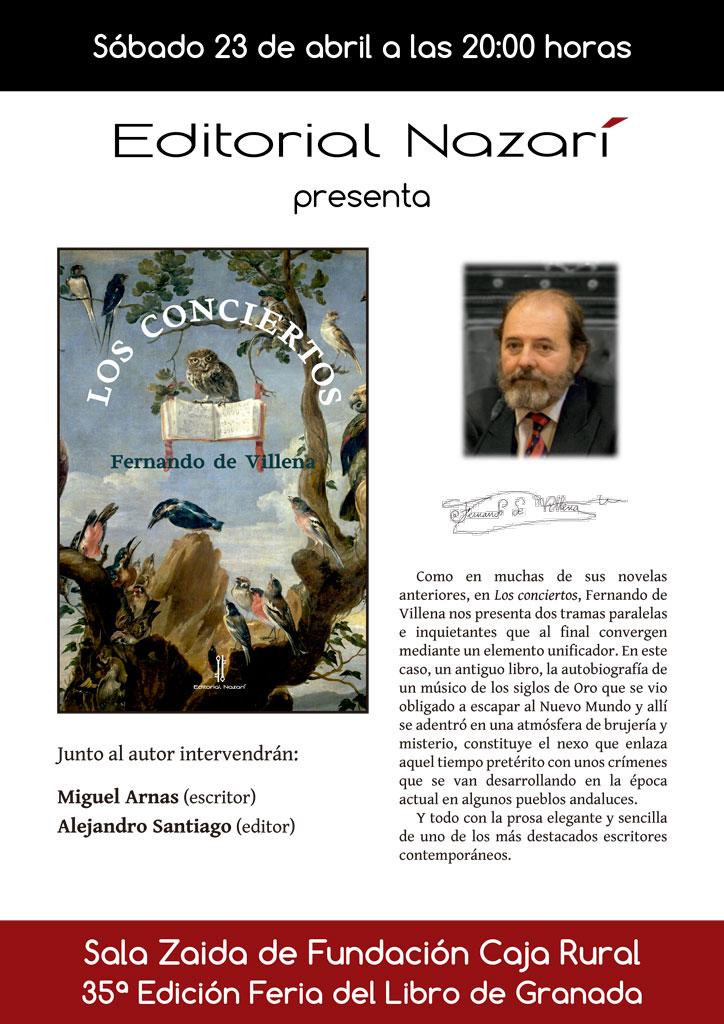 Los conciertos - Fernando de Villena - Feria del Libro de Granada - FLG