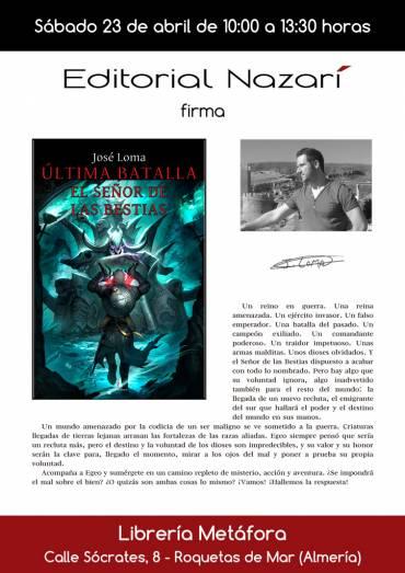 'Última Batalla' en Librería Metáfora