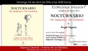 Nocturnario - Ángel Olgoso - Feria del Libro de Granada - FLG