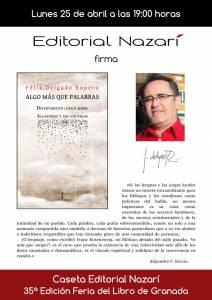 Algo más que palabras - Félix Delgado Ropero - Feria del Libro de Granada - FLG