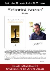 Sueños dispersos - Francisco Beltrán Sánchez - Feria del Libro de Granada - FLG