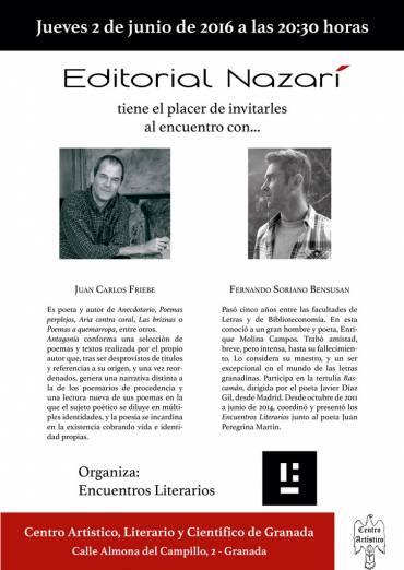 Encuentro literario con Juan Carlos Friebe y Fernando Soriano