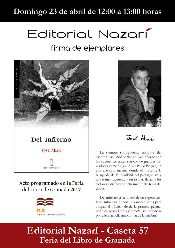 Del infierno - José Abad - Feria del Libro de Granada - FLG