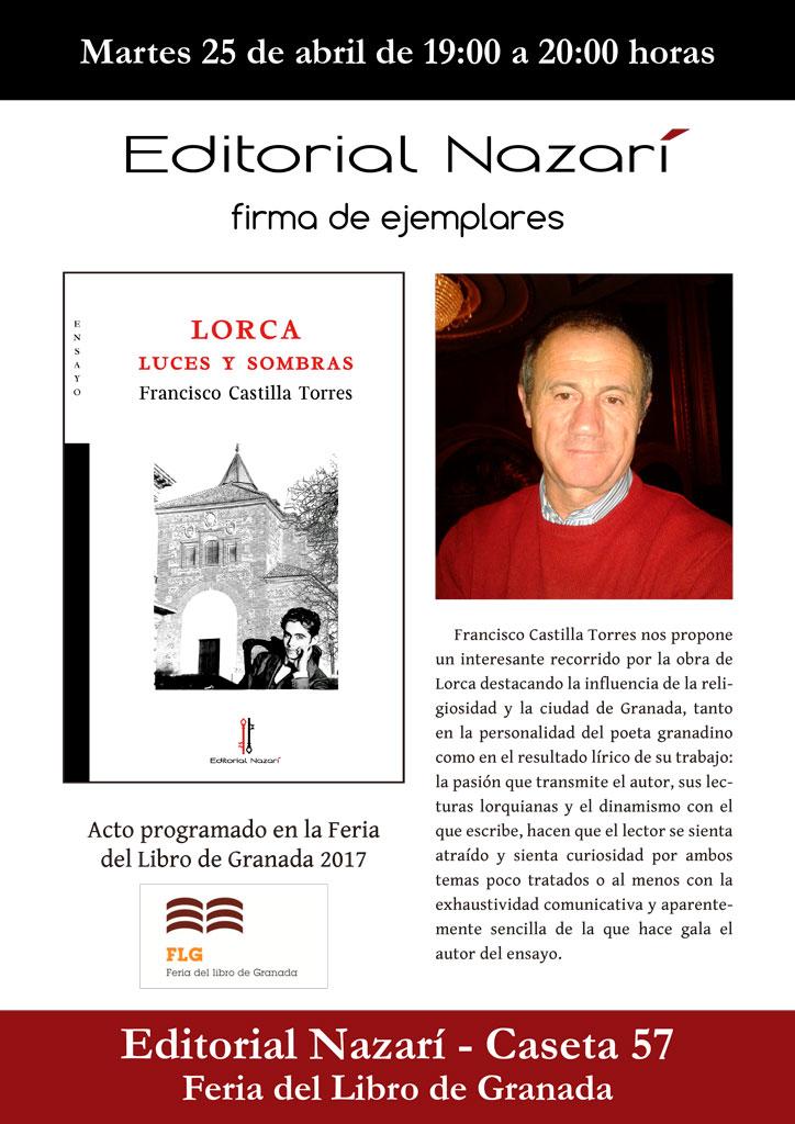 Lorca: luces y sombras - Francisco Castilla Torres - Feria del Libro de Granada - FLG