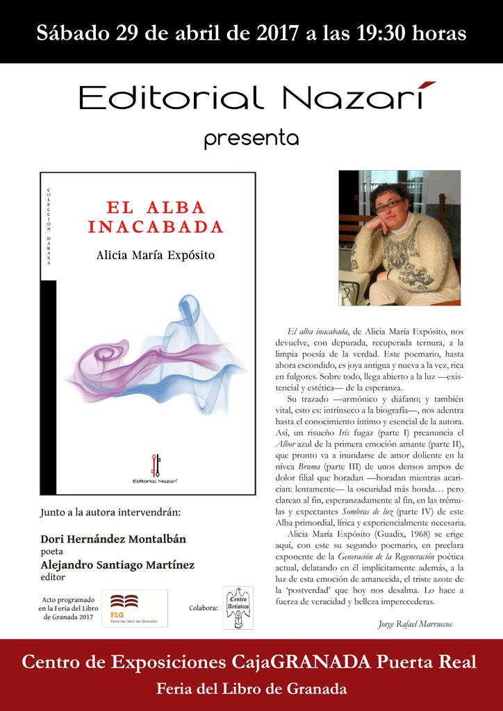 El alba inacabada - Alicia María Expósito - Feria del Libro de Granada - FLG