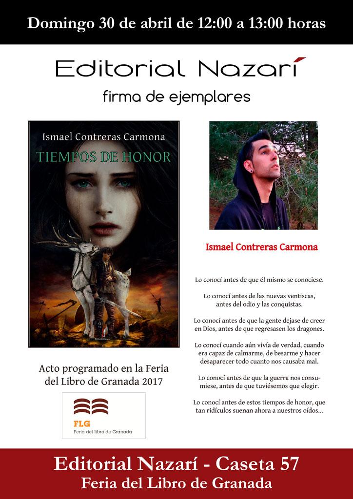 Tiempos de honor - Ismael Contreras Carmona - Feria del Libro de Granada - FLG