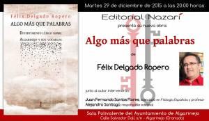 Algo más que palabras - Félix Delgado Ropero - Algarinejo