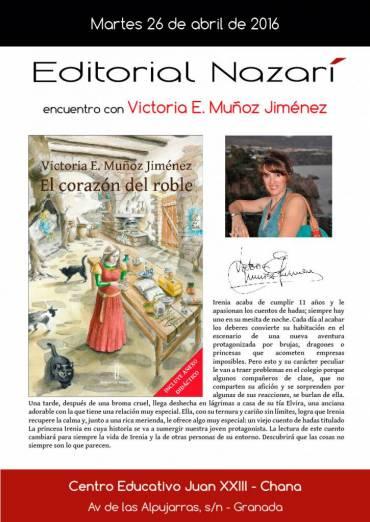 Encuentro con Victoria E. Muñoz Jiménez en el CE Juan XXIII-Chana de Granada