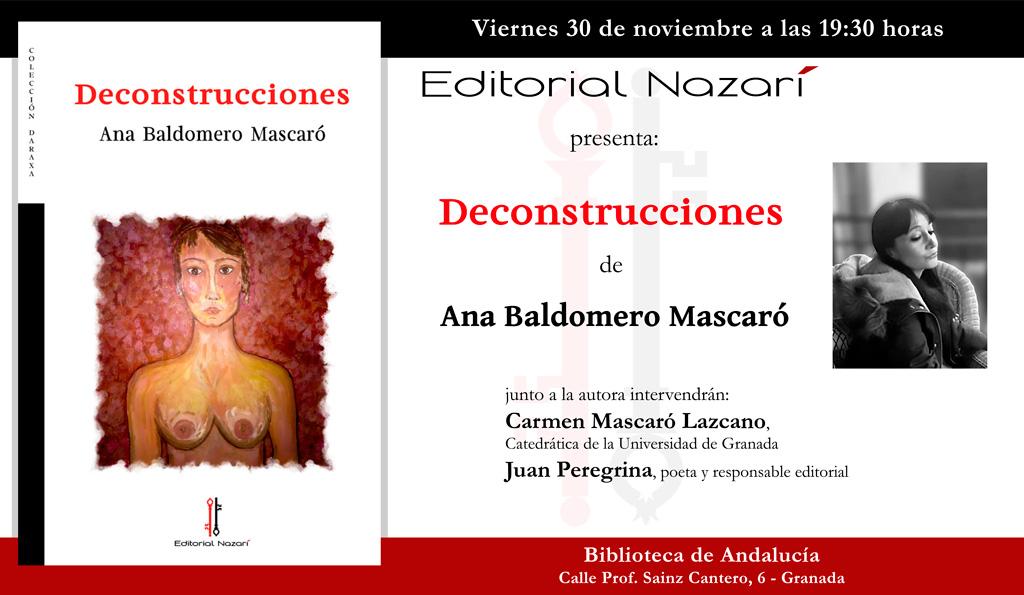 Deconstrucciones - Ana Baldomero Mascaró - Granada