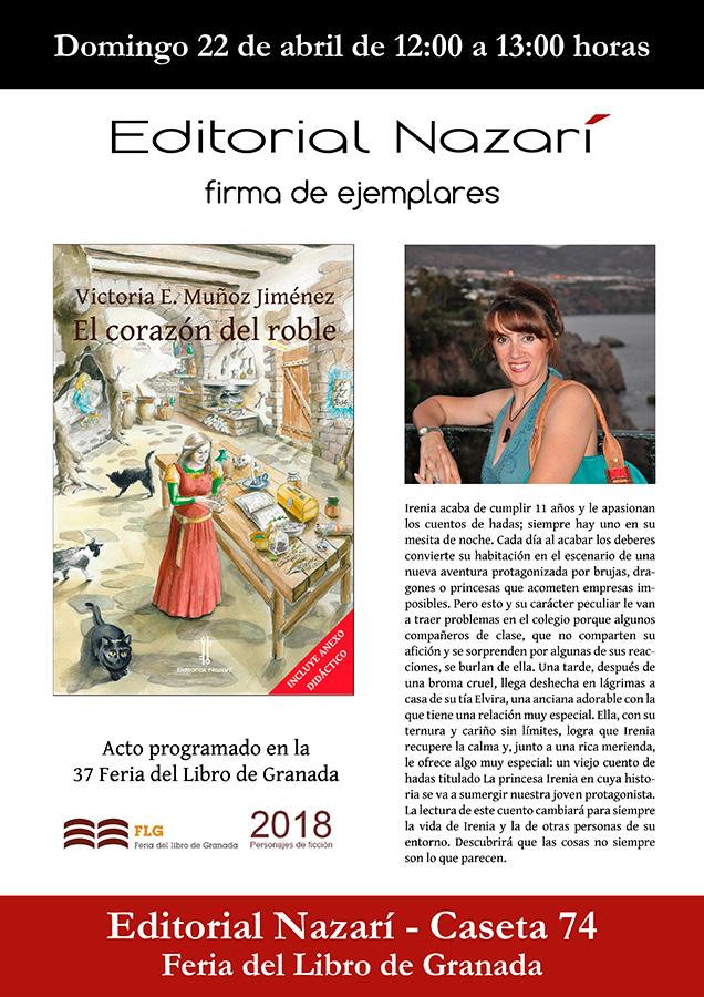 El corazón del roble - Victoria E. Muñoz Jiménez - Feria del Libro de Granada - FLG18