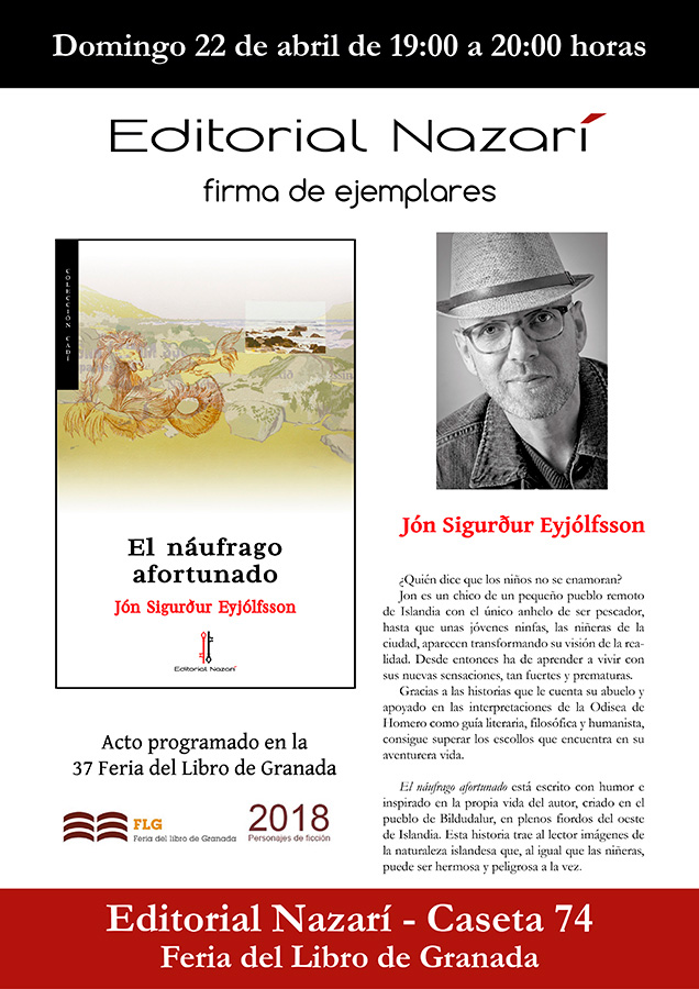 El náufrago afortunado - Jón Sigurður Eyjólfsson - Feria del Libro de Granada - FLG18